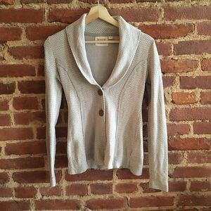 Anthro Rosie Niera Cotton Linen Blazer Cardigan